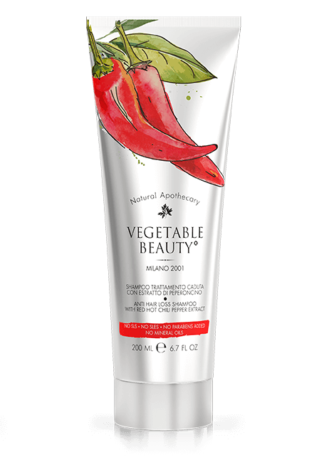 Anti Hair Loss Shampoo With Red Hot Chili Pepper Extract Vegetable Beauty